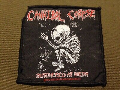 CANNIBAL CORPSE  bab 1992 AUFNÄHER / PATCH Vintage Metal Death Gorguts Dismember