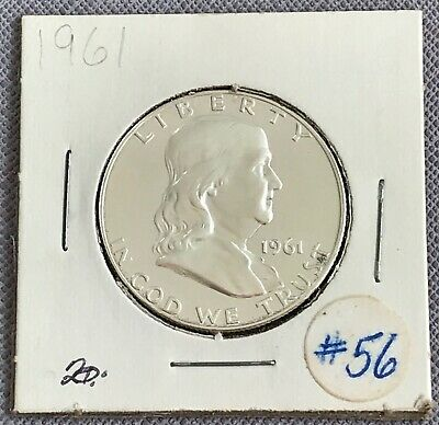 1961 Liberty Ben Franklin Silver Half Dollar United States Coin 50c