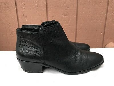 b73b6027d4c0 SAM EDELMAN Petty Zip Up Ankle Boots Leather Black Womens Size US 8M  119