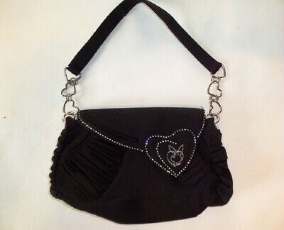 PLAYBOY Black Bunny messenger Bag School College BNWT RRP £29.99