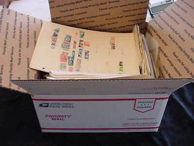 Worldwide Stamp Collection Large Usps Box  70 Pics