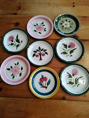 Stangl bread and butter plates, lot of 8, multiple patterns