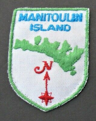 Vintage Travel Patches  2 Canada Ontario Manitoulin Island Old Fort Henry Map