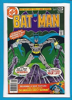 "BATMAN #303_SEPT 1978_NM MINUS_""THE IDENTITY SWITCH""_BRONZE AGE DC 44 Pg GIANT!"