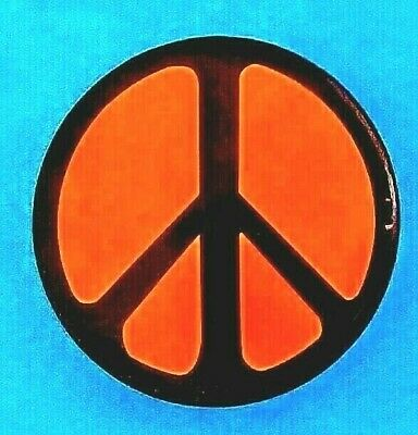 GROOVY PEACE SIGN iron-on patch ANTI-WAR PROTEST SYMBOL embroidered MULTI-COLOR