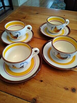 Stangl Country Life cup and saucer set of 4