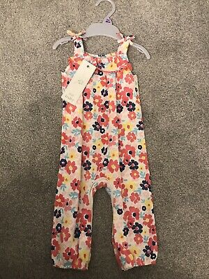 Tesco Baby Girl 3-6 Months Summer Floral Jumpsuit New