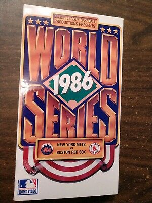 1986 WORLD SERIES VHS - BOSTON RED SOX vs NEW YORK METS