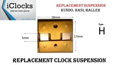 Kundo Electronic Clock Suspension Spring Kieninger Obergfell 17x16mm - Type H