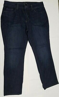 05003c78 Women's Riders by Lee Midrise Straight Leg Stretch Jeans Size 14P Item # 109