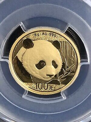2018 China 8 Gram .999 Gold Panda Coin Pcgs Ms69 1St Strike - Investment Grade
