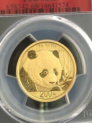 2018 China 15 Gram .999 Gold Panda Coin Pcgs Ms69 1St Strike - Investment Grade