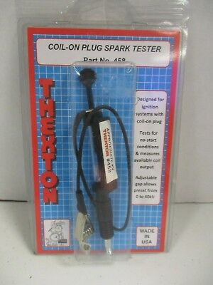 Coil On Plug Spark Tester Thexton 458  Made in USA -Test Output - Adjustable Gap