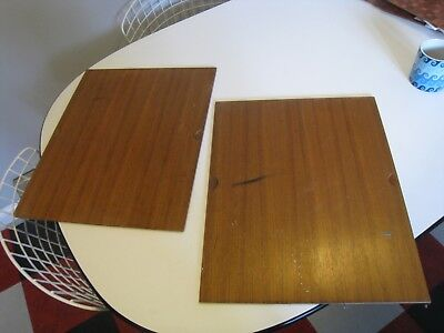Pair Vintage 1960's Danish Modern Wall System Teak Cabinet Drawer Fronts
