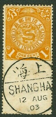 Coiling dragon stamp 1c imperforate between margin variety CIP Chan 117 china