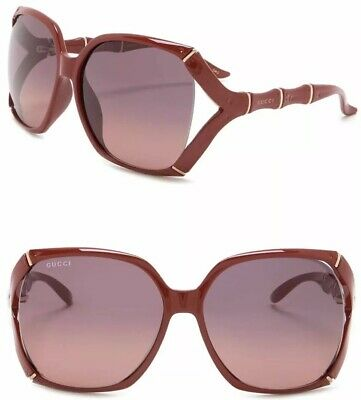 9c7978bf7d GUCCI Bamboo Square Sunglasses GG 3508 S Burgundy Red Gold Purple Gradient  0505S