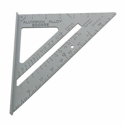 6'' Aluminium Alloy Roofing Rafter Square Triangle 90° Metric Ruler Guide 014