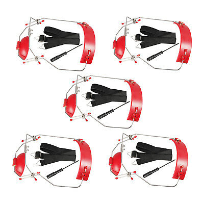 5 pc Dental Orthodontic Adjustable Reverse-Pull Headgear Red Color