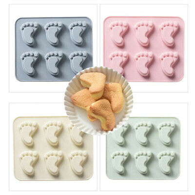 1x Silicone Baby Feet Mold Cake Fondant Mold Chocolate Mold Soap Mold New