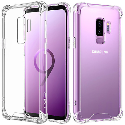 MoKo Samsung Galaxy S9 Plus S9+ Case, Crystal Clear Reinforced Corners TPU + for