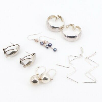 Sterling Silver - Lot of 5 Assorted Pairs of Earrings NOT SCRAP - 15.5g