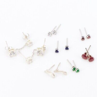 Sterling Silver - Lot of 7 Assorted Pairs of Stud Earrings NOT SCRAP - 5g