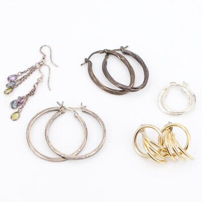 Sterling Silver - Lot of 5 Assorted Pairs of Earrings NOT SCRAP - 16.5g