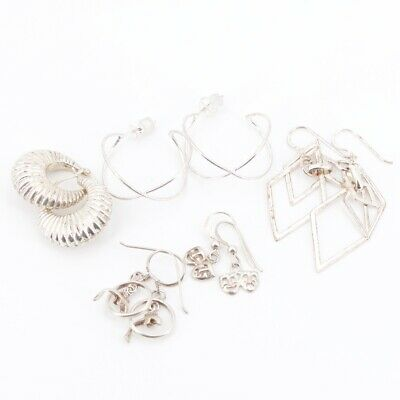 Sterling Silver - Lot of 5 Assorted Pairs of Earrings NOT SCRAP - 14g