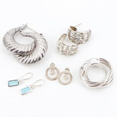 Sterling Silver - Lot of 5 Assorted Pairs of Earrings NOT SCRAP - 25g