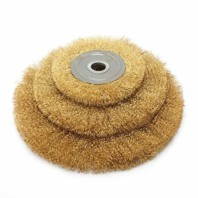 6'' Brass Wire Brush Round Wheel Replacement For Bench Grinder Polish 16mm Arbor
