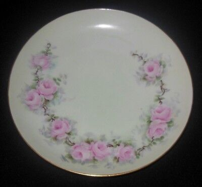 Kpm Hand Painted Plate Pink Roses Signed Sturm 1913