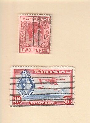 BAHAMAS, 1938, lot of (2) used stamps, VLH
