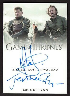 2017 Game of Thrones Jerome Flynn/Nikolaj Coster-Waldau signed auto autograph