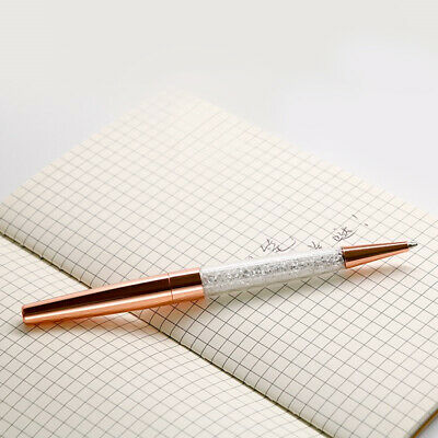 Rose Gold Crystalline Stardust Made With Swarovski Crystals Ballpoint Pen UK