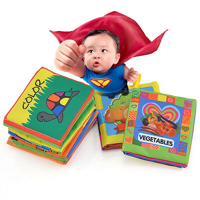 Cute Intelligence development Cloth Bed Cognize Book Educational Toy Kid Baby