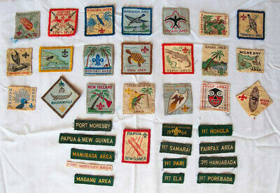 Scout memorabilia Collection of 22 Papua New Guinea national and area badges