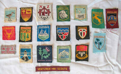 Scout memorabilia Collection of 16 New Zealand district +3 national badges