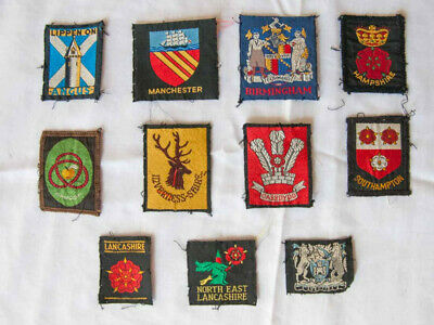 Scout memorabilia Collection of 11 British county or district badges (patches)