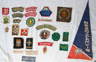 Scout memorabilia Collection of 24 various Asian scout badges, 6 countries