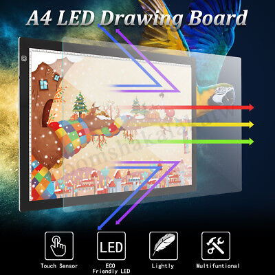 A2 LED Tracing Light Box Stencil Drawing Board Pattern Art Drawer Design Pad AU