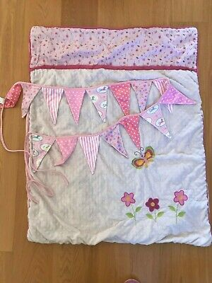 Baby GIRLS Pink COT QUILT with BONUS pink BUNTING - ideal BABY SHOWER GIFT!