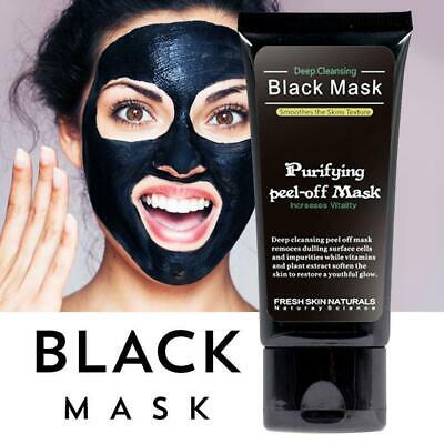 Glamza Charcoal Blackhead Remover Peel Off Facial Cleaning Black Face Mask