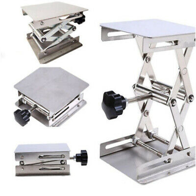 Laboratory Lifting Platform Scissor Stand Lab-Lifting Silver Stainless Steel