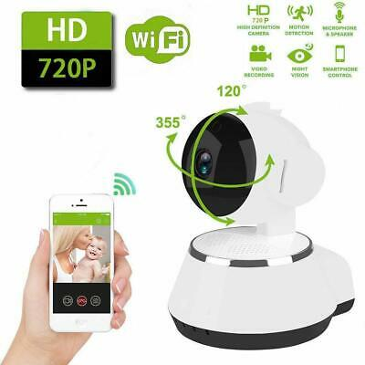 720P HD Wireless WIFI IP CCTV Camera Smart Home Security Night Vision Indoor Cam