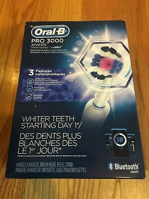 ORAL-B PRO 3000 Electric Rechargeable Toothbrush 3D White Smart Series Bluetooth
