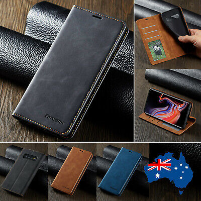 For Samsung Galaxy S10+ S10e Plus Leather Case Card Slot Filp Magne Wallet Cover