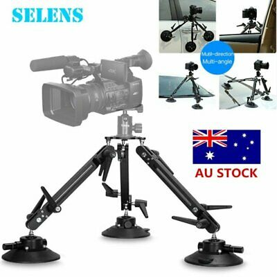 "Selens Video Camera Outdoor Car Window Suction Cup 1/4"" Mount  Stabilizer Tripod"