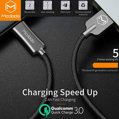 Type C USB-C Charger Fast Charging Sync Data Cable For Samsung S10+ S10 S9 S8 LG