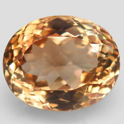 13.24ct.Natural Top Imperial Topaz Unheated Brazil Oval Facet AAA Ravishing Nr!.