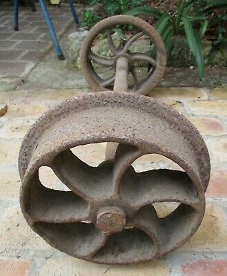 Vintage Tramway Railway 2' Gauge Cast Steel Sheffield Wheel Set - Mining Skip?